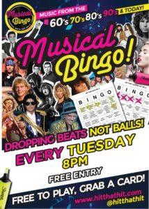 Tuesday Musical Bingo