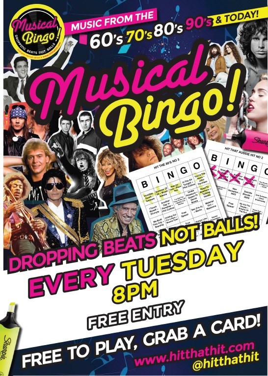 Tuesday Musical Bingo