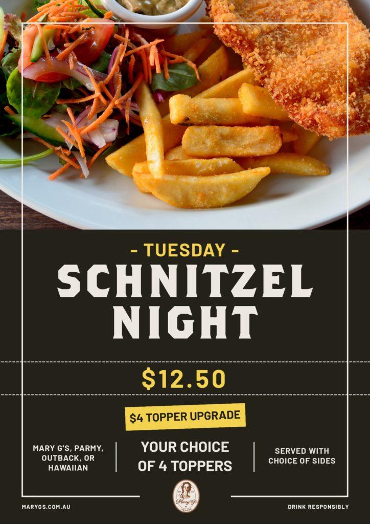 Tues Schnitzel Night Web